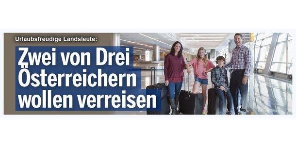 Zwei von drei Österreichern wollen verreisen