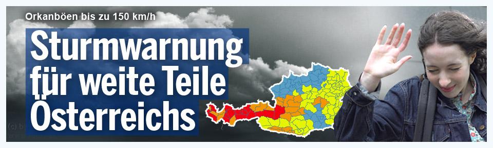Sturmwarnung für weite Teile Österreich