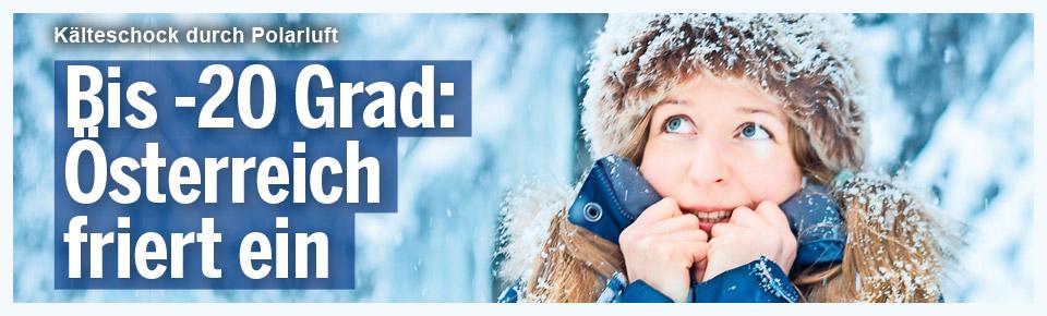 Bis -20 Grad: Österreich friert ein