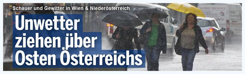 Unwetter im Osten Österreichs
