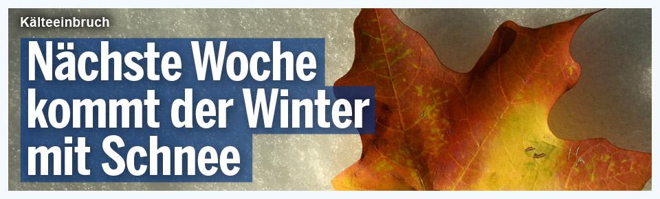 Nächste Woche kommt der Winter mit Schnee