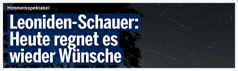 Leoniden-Schauer: Heute regnet es wieder Wünsche
