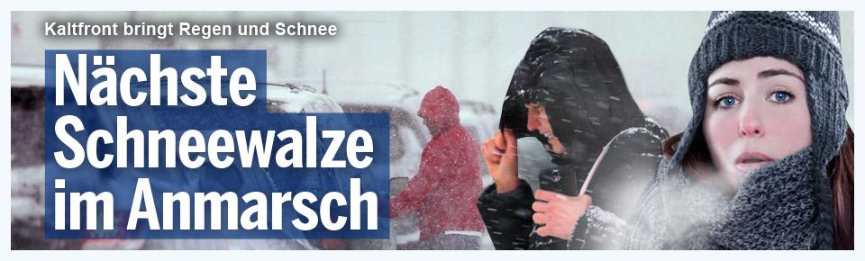Nächste Schneewalze im Anmarsch