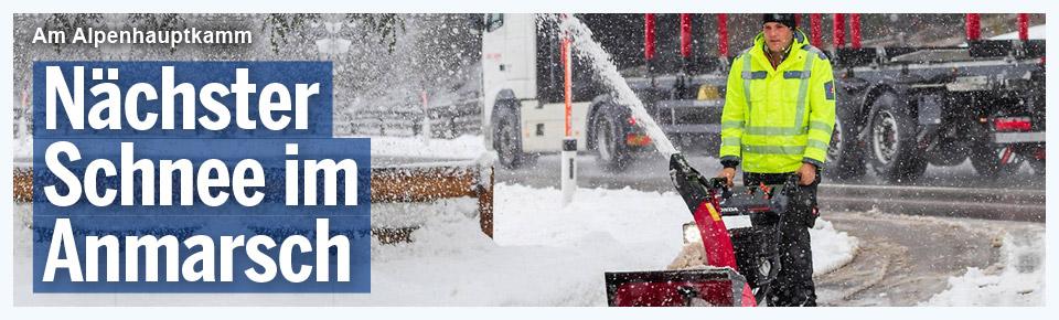 Nächster Schnee im Anmarsch