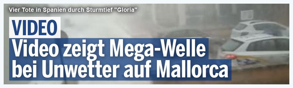Video zeigt Mega-Welle bei Unwetter auf Mallorca