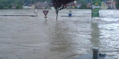 Hochwasser in Aggsbach-Dorf