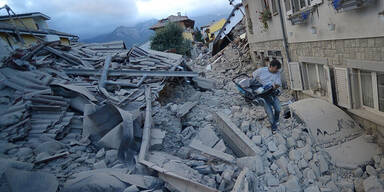 Schwer getroffen wurde die Stadt Amatrice