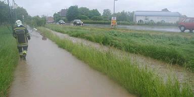 Starkregen in Amstetten