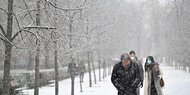 Sturmtief sorgt für Schnee in Spanien