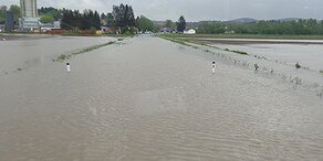 Erste Überflutungen in Österreich