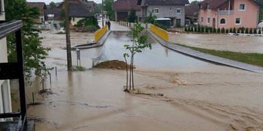 Enorme Regenmengen in Bosnien