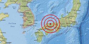 Schweres Beben erschüttert Japan