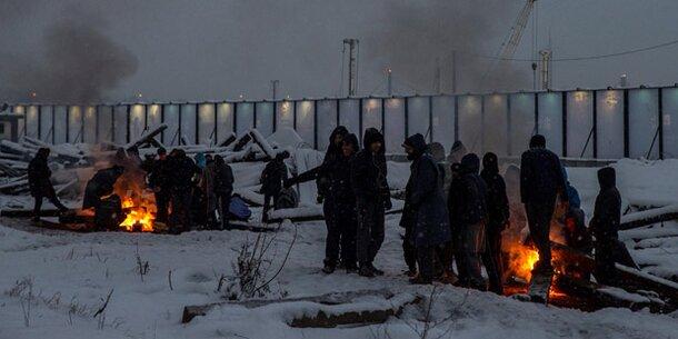 Minus 28 Grad: 7.000 Flüchtlinge kämpfen ums Überleben