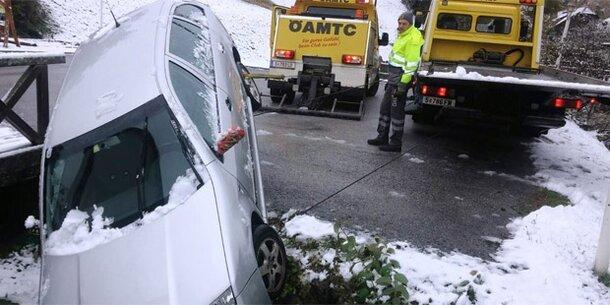 Blitzeis: Serienweise Unfälle in Salzburg