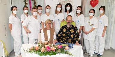 Blitzhochzeit am Krankenbett im LKH Graz