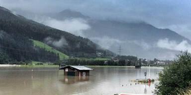 Überschwemmung in Bramberg