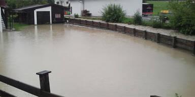 Hochwasser in Brixen im Thale