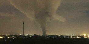 Tornado fegt über italienische Stadt