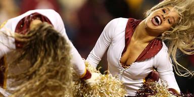 Die Cheerleader der Washington Redskins gaben auch gegen die Green Bay Packers Gas