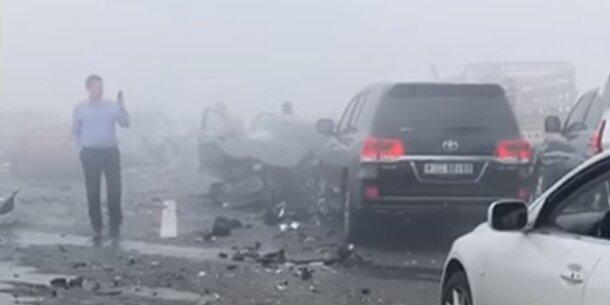 Schock-Video: Massen-Crash wegen Nebel