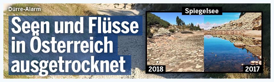 Seen und Flüsse in Österreich ausgetrocknet