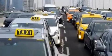 Mord-Drohung gegen Taxi-Demo