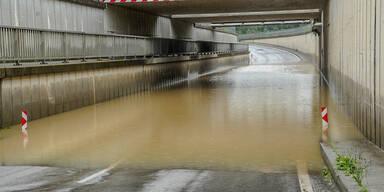 Überflutungen B122 Aschbach - Krenstetten