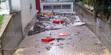 Überflutungen in Wien-Döbling