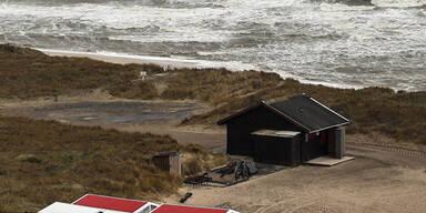 Starker Wellengang auf der Insel Sylt