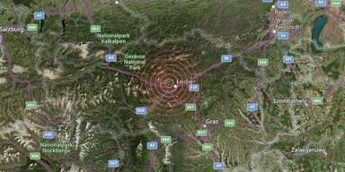 Erdbeben der Stärke 3,4 bei Trofaiach