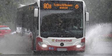 Sintflutartiger Wolkenbruch in Wien
