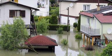 Überflutungen in Greifenstein