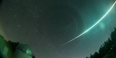 Neue Feuerkugel am Himmel gesichtet
