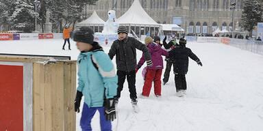 So fällt der Schnee in Wien