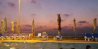 Wunderbare Abendstimmung im Gazastreifen