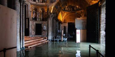 Markusdom Venedig Überschwemmungen
