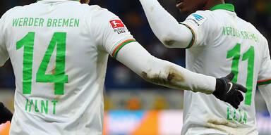 Werder Bremen hat das Training wegen dem Orkantief vorverlegt