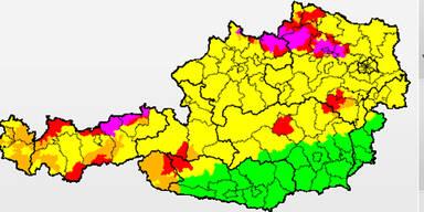 Gewitterwarnung in Österreich