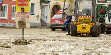 Überschwemmungen in Ost-Österreich