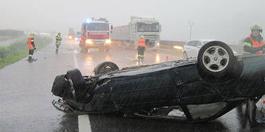 Unwetter - Unfall bei Grafenwörth