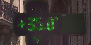 Temperatur Anzeige 35 Grad