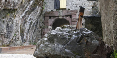 Felssturz auf Burg Hochosterwitz