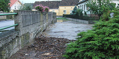 Unwetter - Überschwemmungen bei Horn