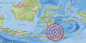 Starkes Beben vor der Küste Indonesiens