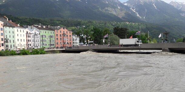 Hochwasser am Inn: Pegelstände bleiben stabil