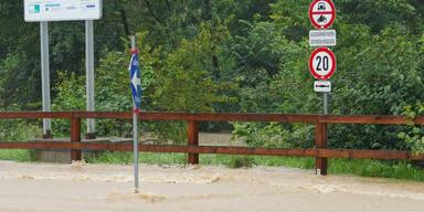 Hochwasser-Alarm und Überflutungen in Wieselburg