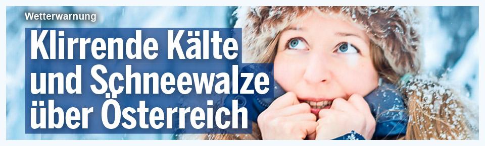 Kälte und Schneewalze über Österreich