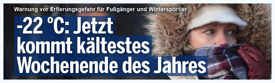 - 22 Grad: Jetzt kommt die Kältewelle