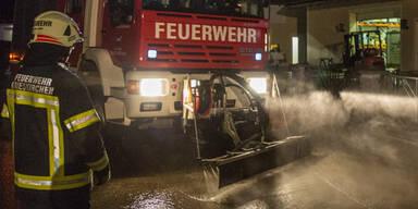 Unwetter in Wallern an der Trattnach