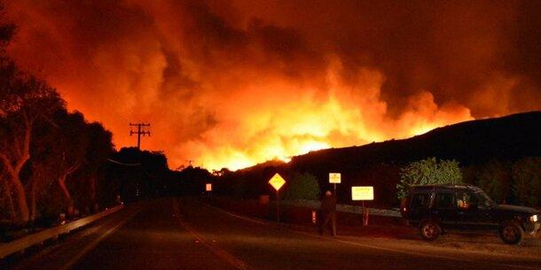 USA: Tausende flüchten vor Feuerhölle